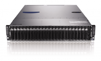 Сервер Dell PowerEdge C6220, 8 процессоров Intel Xeon 8C E5-2680 2.70GHz, 128GB DRAM, 24 отсека под