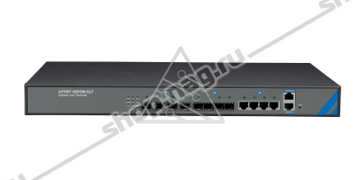 OLT C-DATA FD1104SN с 4 портами GEPON (SFP), 4 GE комбо-порта, 2 БП АC